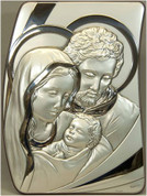 Holy Family Sterling Silver Plaque Style C680SF