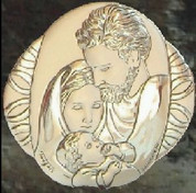 Holy Family Style 112 Sterling Silver on glass