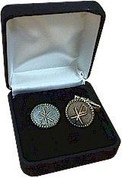 Ziegler Cuff Links Chi Rho Design Gold-Plated Sterling Silver ZZ5055