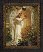 Framed Print - Christ at Hearts Door