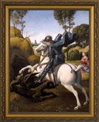 Framed Print St. George and The Dragon
