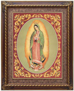"""Framed Stained Glass Our Lady of Guadalupe - 27"""" X 33"""""""