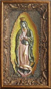 """3D Our Lady of Guadalupe - Colored - 15"""" x 25"""""""