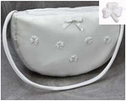 Purse with White Shamrocks | First Communion