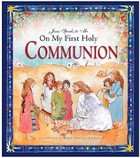 Jesus Speaks to Me On My First Holy Communion childrens picture book by Burrin measures 8 and 1 half by 9 and 1 half inches 40 pages 9781593251499