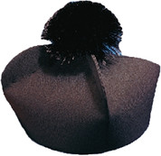 Biretta | Custom Made | Monsignor | Style 422 Black Pom