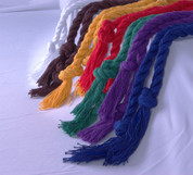 "Braided Rope Cincture 60"" Style 205C - Available in 7 colors"