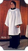 Liturgical Surplice with Round Yoke Style 335