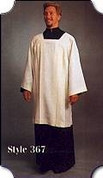 Ecumenical Surplice with Square Yoke Style 360