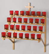 Ziegler | Style 3048 | Votive Stand | 48 Votive Lights | Wall Mounted