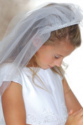 First Communion Veil - with Headband Style 722