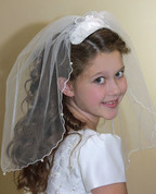 First Communion Veil | Clip Style | 706