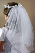 First Communion Veil | Crown Style | 794