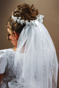 First Communion Veil - with Crown Style 797