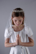 First Communion Veil - with Tiara Style 65394
