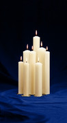 Christ Candle Style Plain - Size 3 x 12 White Pillar