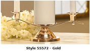 Unity Candleholder in Gold Style 55572
