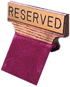 Pew Sign - Reserved