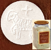 "Altar Bread Host White - Size 1-3/8"" Lamb Design 750 Host - CA138WLC"