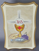 "Blessed Sacrament Plaque | Communion | 3-3/4"" x 5-1/2 