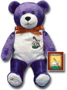 Reconciliation Holy Bear purple and white Plush Toy with embroidered lamb of god made of polyester for children 3 and older measures 9 inches HLBRECONC