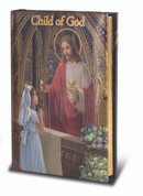 Child of God Cathedral edition missal for girl padded cover with gold accents measures 4 by 5 and 1 half inches HI2470