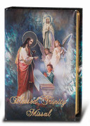 Blessed Trinity Missal pearlized cover With Gold Accents by doctor Kelly Bowring 184 Pages Color Illustrations measures 5 and 1 quarter by 3 and 1 quarter inches HI2622