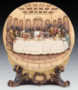 """Black Last Supper Plate - Size 11-1/2""""H"""