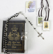 My Mass  & Holy Communion Book | Missal  Set | Gold Embossed | Black