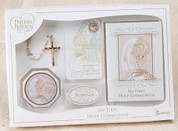 First-Communion-Missal-Gift-Set-5-Pieces-includes-missal-rosary-with-case-blessed-sacrament-pin-and-scapular-gift-boxed-precious-moment-theme-RO62909