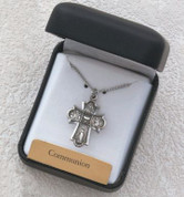 Four Way Medal Necklace | First Communion | Antique Finish Cross