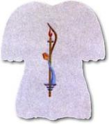 Baptismal Bib Polyester Felt Style B3