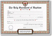Baptismal Forms Certificate ID 1042