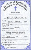 Confirmation Forms Certificate - Bilingual - Style #175