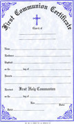 First Communion Certificate - Style #180