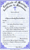 Marriage Forms Certificate - Bilingual - Style #312