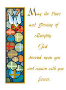 Mass Card Peace of God Living Style BCMC022