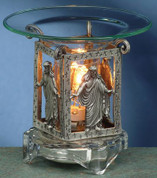 Scented Pewter Electric Oil Burner - Jesus Burner
