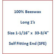 "Cathedral 100% Beeswax Long 1's - Size 1-1/16"" x 33-3/4""   Self Fitting End (SFE)"