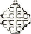"Cross, Jerusalem Sterling 18"" Chain"