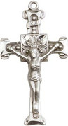 """Crucifix Sterling 24"""" Chain - BL0479SS24S"""