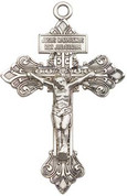 """Crucifix Sterling 24"""" Chain - BL0632SS24S"""