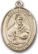 """14 Karat Oval Medal-Size Large-1 1/4""""-St. Albert"""