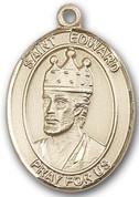 "14 Karat Oval Medal-Size Large - 1 1/4""-St. Edward"