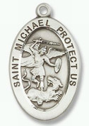 Sterling Silver St Michael the Archangel Pendant