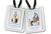 Our Lady of Mount Carmel Brown Scapular | Brown Cord | Wool | SCBN