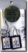 children Scapular Wool with saint Benedict Medal and instructional pamphlet W1015
