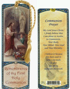First Communion Paper Bookmark For a Boy with Prayer Before Receiving Communion Laminated measures 6 by 2 inches GE300T001