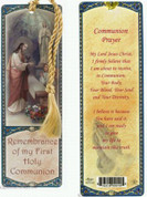 First Communion Paper Bookmark For a girl with Prayer Before Receiving Communion Laminated measures 6 by 2 inches GE300T002
