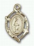 "Miraculous Medal  Gold Filled 18"" Chain"